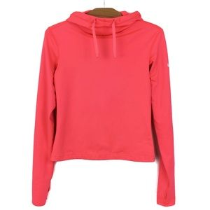 Nike Cropped Funnel Neck Running Fleece Hot Pink S